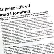 Pressemeddelelse for Bilpriser.dk skrevet af Courage design
