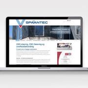 Hjemmesidetekst til maskinfrabrikken Spaantec Tec skrevet af Courage Design