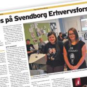 Pressemeddelelse af Svendborg Erhvervsforskole skrevet af Courage Design