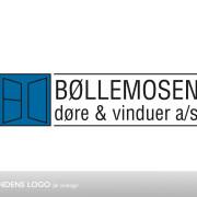 Bøllemosens logo før redesign - produktionsvirksomhed med speciale i døre og vinduer