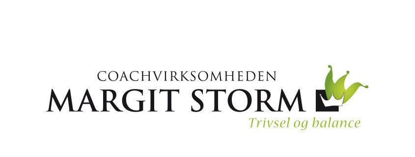 Redesign af Margit og Storm logo ved Courage Design